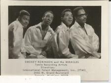 Vtg Photo Business Card Smokey Robinson Miracles Tamla Motown 1960's