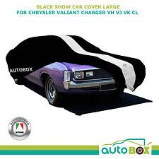 Black Large Indoor Show Car Cover fits Chrysler Valiant Charger VH VJ VK CL