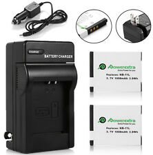 2 NB-11L NB11LH Battery + Charger for Canon PowerShot ELPH 110 HS A2300 A4000 IS