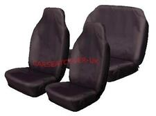 Toyota Corolla Verso  - Heavy Duty Black Waterproof Car Seat Covers - Full Set