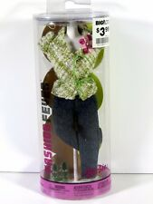 NIB BARBIE DOLL 2004 FASHION FEVER OUTFIT TOP AND JEANS