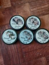 Columbus Blue Jackets Player Vs. 5 puck Lot
