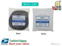8mm x 33ft Black White Spiral Wrapping Bands Cable Organizer 3D Printer CNC MK8