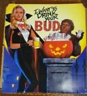 """1990 Budweiser Halloween Poster """"I want to drink your Bud"""" NOS 18""""x16"""""""
