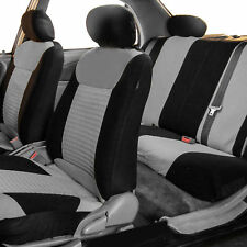 Car Seat Covers Premium Set Gray W. Free Air Freshener