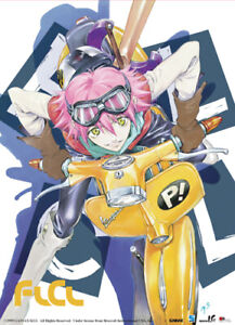 **Legit Poster** FLCL Anime Fooly Cooly Haruko on Vespa Fabric Wallscroll #9656