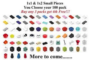 ☀️ NEW! Lego 1x1 & 1x2 Bricks Plates Tiles bulk lot 100x U PICK Parts Pieces