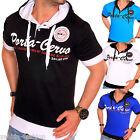 ZAHIDA uomo Clubwear camicia T-shirt con scollo a V Designer Top Cappuccio Polo