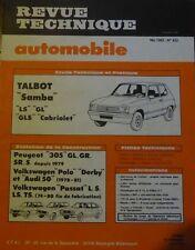 Neuve de stock ! Revue technique TALBOT SAMBA LS GL GLS CABRIOLET RTA 422 1982