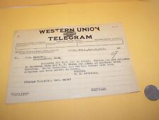 1915 BURTON K WHEELER WESTERN UNION TELEGRAM BUTTE US ATTORNEY MONTANA CRIMINAL
