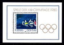 Germany Ddr 2121 Mnh 1980 Summer Olympics Moscow Souvenir Sheet Vf