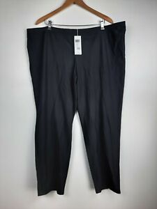 Eileen Fisher Woman 3X Stretch Crepe Slim Ankle Pants Black Washable Pull On Mid