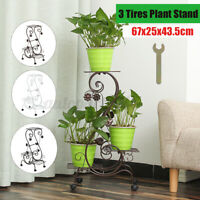 3 Tires Metal Plant Flower Stand Display Shelf Home Office Store Garden Patio