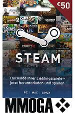 Steam Game Card EUR 50 Key Steam Gutschein Guthaben Code - €50 Euro Guthabencode