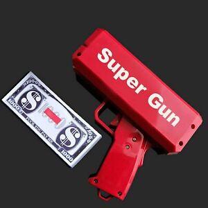 Cash Gun / Bill shooter / Money Gun / Metallic Plated Red