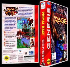 Primal Rage - Sega Genesis Reproduction Art Case/Box No Game.