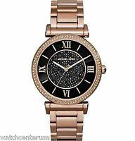 Michael Kors MK3356 Catlin Rose Gold-Tone Watch 38mm Watches
