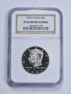 PF69 UCAM 2005-S Kennedy Half Dollar - Clad - Graded NGC *455