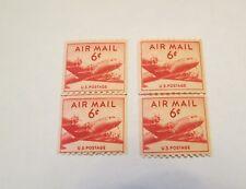 SCOTT #C41 1949  AIRMAIL COIL LINE PAIRS MINT NH 2 PIECE LOT