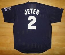 DEREK JETER Majestic NEW YORK YANKEES 1996 World Champions Blue Jersey Adult XL