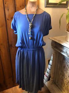 Next 14 Dress Blue A Line Summer Sun Dress Relaxed Fit