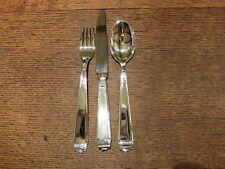 Robbe&Berking 'Deco' Sterling Silver Table KnifeTable Fork&Dessert Spoon