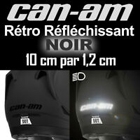 STICKER AUTOCOLLANT CAN-AM CAN AM SPYDER NOIR REFLECHISSANT ADHESIF PRO 10 cm