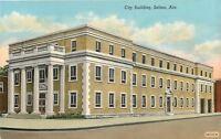Selma Alabama~City Building~1940 Linen Postcard