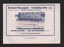 LIMBACH, Werbung 1927, Ernst Saupe Wirkmaschinen-Fabrik