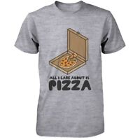 All I Care Is About Pizza Funny Men's Shirt Cute Graphic T-shirt for Pizza Lover
