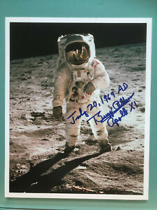 APOLLO 11 Moonwalker BUZZ ALDRIN signed Offical NASA autograph RARE +INSCRIPTION