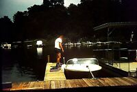 RW04 ORIGINAL KODACHROME 1960s 35MM SLIDE NICE SHORTS STYLE TAKING THE BOAT OUT