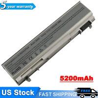 5200mAh Battery For Dell Latitude E6400 E6410 E6500 E6510 PT434 Laptop M4500 NEW