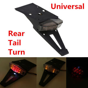 Universal 1 Pcs Smoke Len Motorcycle Fender LED Brake Stop Rear Tail Turn Light