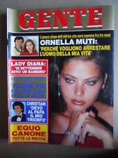 GENTE n°8 1984 Ornella Muti Christian Speciale Edda Ciano [Q10]