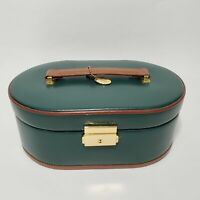 Heritage Wolf Designs Multi Compartment Jewelry Travel Case Removable Box Green
