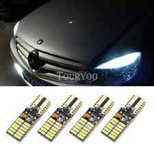 4x T10 LED Lights 6000K White Error Free for Mercedes W204 City Eyebrow Eyelid
