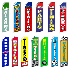 Automotive Swooper Flags Advertising Flag Feather Flag Wheels Tint Alarms