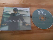 CD country Garth Brooks Chris Gaines-that 's the way (1 chanson) promo Capitol sc