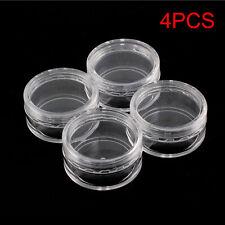 4PCS Jar Pots Useful Empty Plastic 10g Bottles Nair Art Glitter Travel Jar Pots