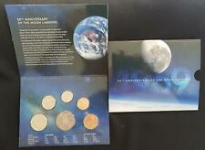 2019 AUSTRALIA 50th ANNIVERSARY of the MOON LANDING COIN SET - UNC & PERFECT