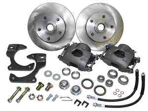 1963-70 CHEVY C10 TRUCK, FRONT STOCK SPINDLE DISC BRAKE WHEEL KIT, 5-LUG