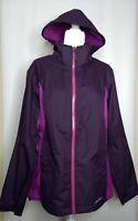 Women's Eddie Bauer WeatherEdge Plus Purple Zip Front Hooded Jacket Size Large