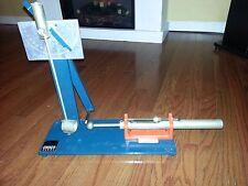 CENCO Ballistic Pendulum Measurement Device Momentum, Velocity, Kinetic Energy