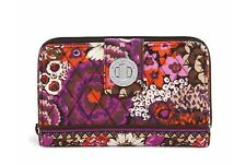 Vera Bradley Turn Lock Wallet in Rosewood. NWT. Retail $49, Free Shipping