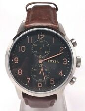 Fossil Men's Townsman FS4873 Brown Leather Watch Light scratches on the face