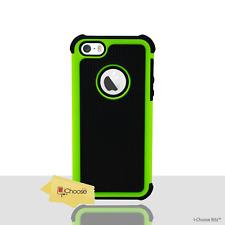 Vert Antichoc Coque pour Apple iPhone 5c Protecteur D'écran Étui Hybride Case