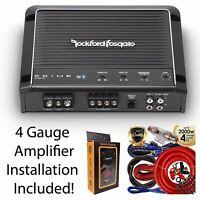 Rockford Fosgate R750-1D Prime 750W Class D 1 channel Amplifier + 4 Gauge Amp
