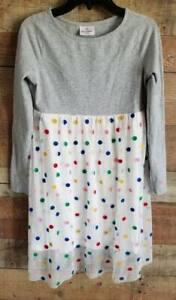 Hanna Andersson Girls Sz 150 (12) Long Sleeve Pullover Casual Dress Polka Dot