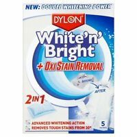 NEW White'n' Bright With Oxi Stain Removal From Dylon Pack of 5 Sheets!